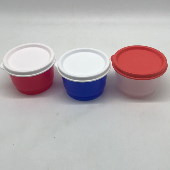 Tupperware Snack Cup  Lunch  Set of 3